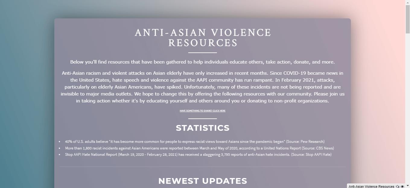 Carrd AAPI violence resource