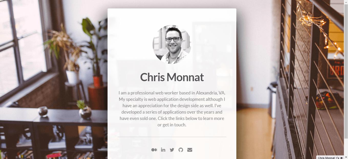 Carrd Chris Monnat