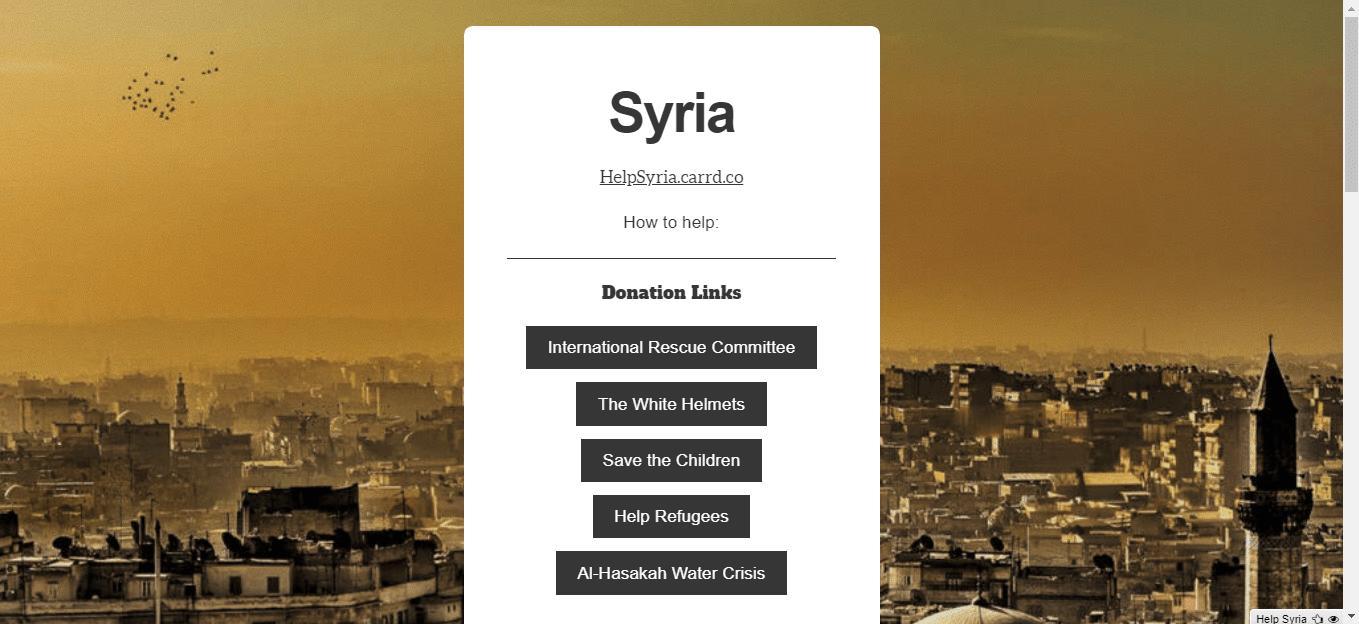 Carrd Help Syria