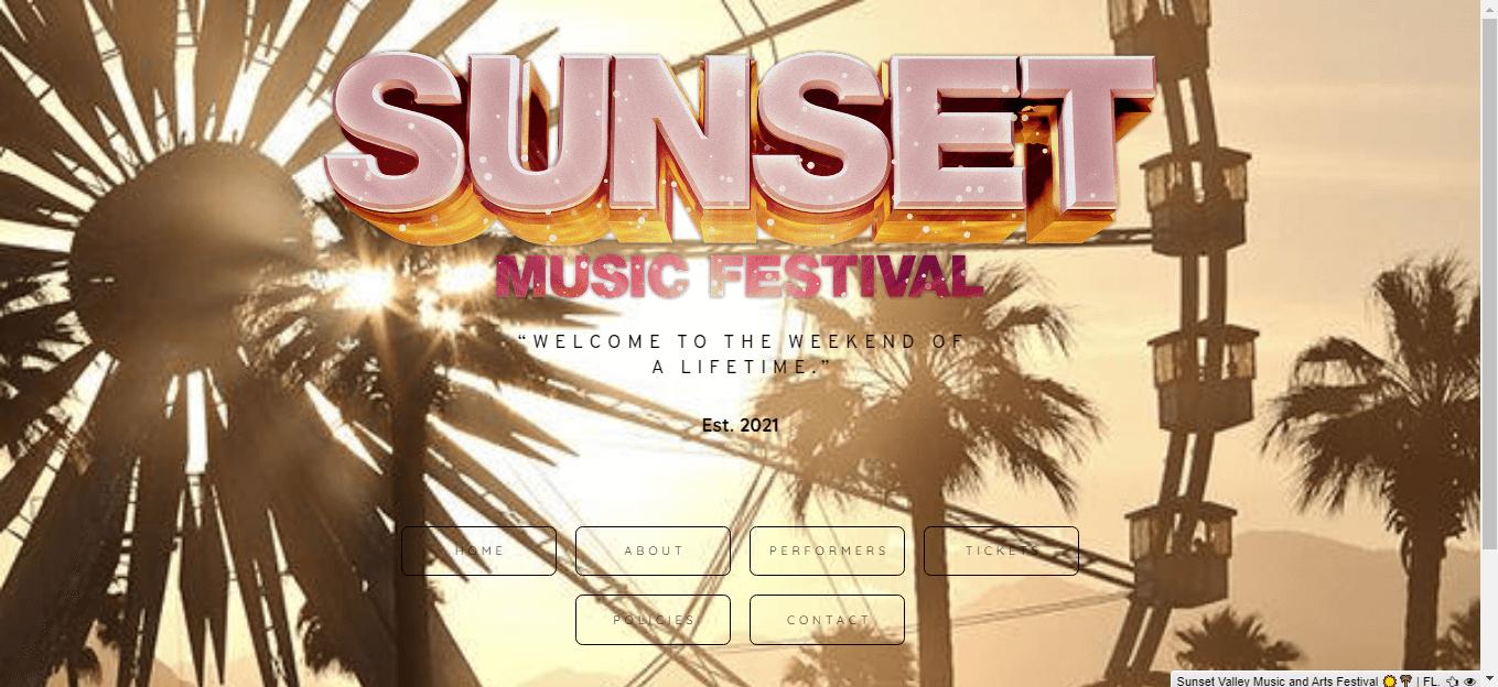 Carrd Sunset Music Fest