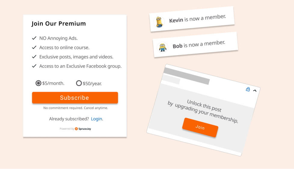 subscription sign up form