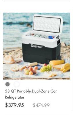 53 QT Portable Dual-Zone Cor Refrigerator