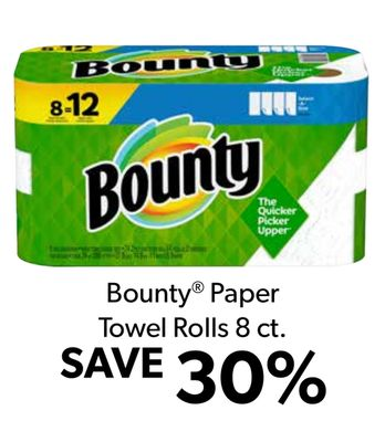 Bou How 8 12 Bounty The Quicker Picker Upper Bounty R Paper Towel Rolls 8 ct. SAVE 30%