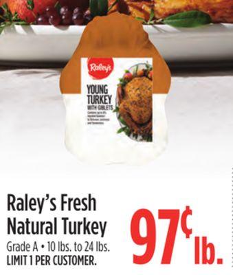 Raley's Fresh Natural Turkey