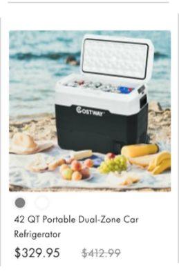 42 QT Portable Dual-Zone Car Refrigerator