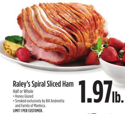 Raley's Spiral Sliced Ham