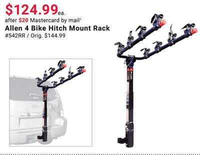 Allen 4 Bike Hitch Mount Rack
