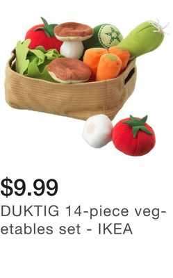 DUKTIG 14-piece vegetables set - IKEA
