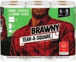 Brawny Paper Towels - 6 large rolls; Quilted Northern Bath Tissue - 6 mega rolls