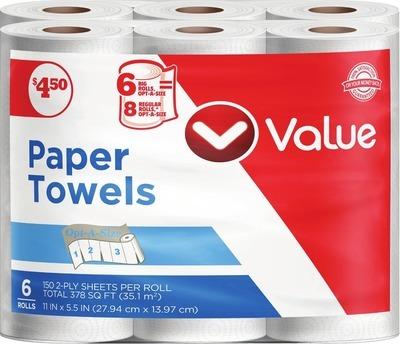Paper Towels 6 Big Rolls