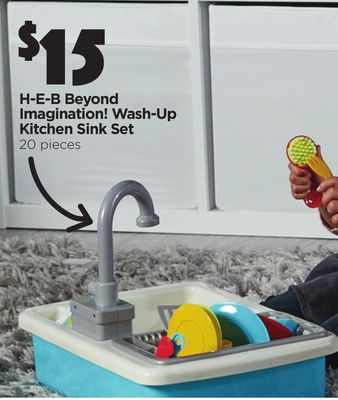 H-E-B Beyond Imagination! Wash-Up Kitchen Sink Set