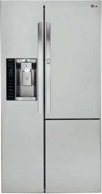 "LG 26 cu. "" . Door-in-Door Side-by-Side Refrigerator with SpacePlus Ice System"