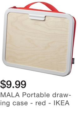 MALA Portable drawing case - red - IKEA