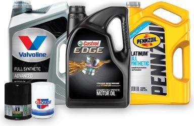 5 QUARTS OF MOTOR OIL + 1 OIL FILTER