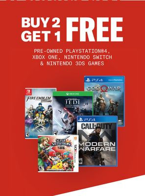 PRE-OWNED PLAYSTATION®4, XBOX ONE, NINTENDO SWITCH & NINTENDO 3DS GAMES