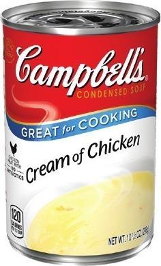Campbell's Cream of Chicken or Cream of Mushroom Soup