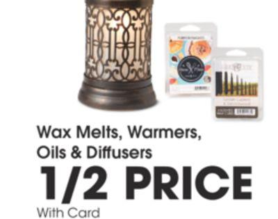 Wax Melts, Warmers, Oils & Diffusers