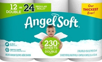 Angel Soft Bath Tissue-12 double roll; Sparkle Paper Towels-6 mega roll