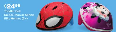 Toddler Bell Spider-Man or Minnie Bike Helmet (3+)