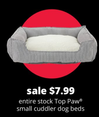 Entire Stock Top Paw Small Cuddler Dog Beds