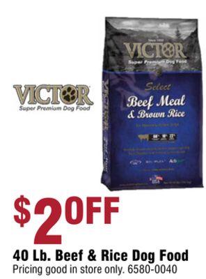 VICTOR 40 Lb. Beef & Rice Dog Food