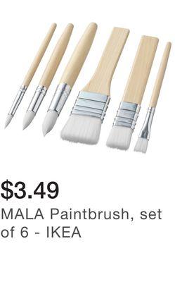 MALA Paintbrush, set of 6 - IKEA