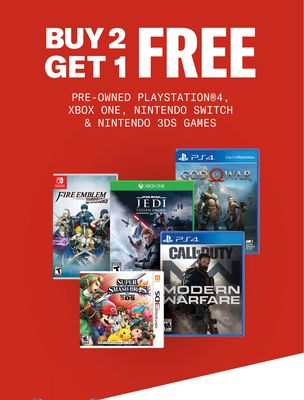 PRE-OWNED PLAYSTATION® 4, XBOX ONE, NINTENDO SWITCH & NINTENDO 3DS GAMES