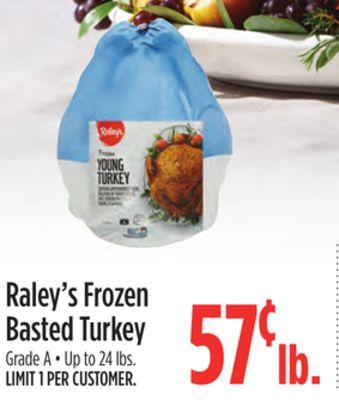 Raley's Frozen Basted Turkey