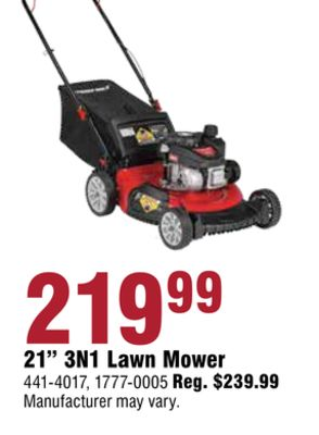"""21"""" 3N1 Lawn Mower"""
