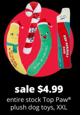 Entire Stock Top Paw Plush Dog Toys, XXL