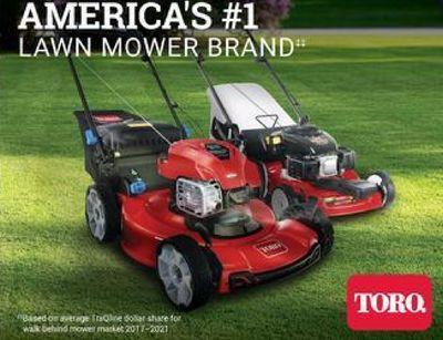 "AMERICA'S #1 LAWN MOWER BRAND."" TORO. Basedon Enclose dotter there too walk Behind movemarket 201 20m"
