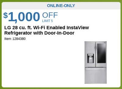 LG 28 cu.ft. Wi-Fi Enabled Instaview Refrigerator with Door-In -Door