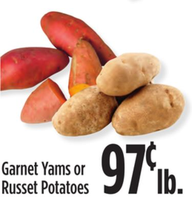 Garnet Yams or Russet Potatoes
