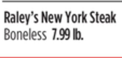 Raley's New York Steak