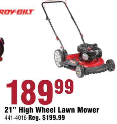 "21"" High Wheel Lawn Mower"