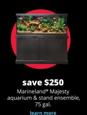 Marineland Majesty Aquarium & Stand Ensemble, 75 gal.