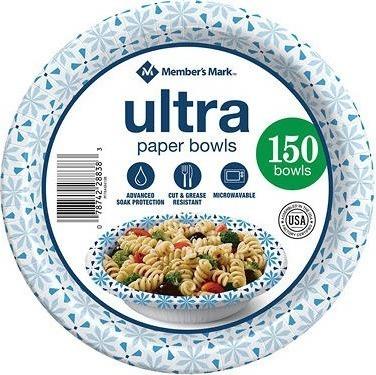 Member's Mark Ultra Soup/Salad Paper Bowls (20 oz., 150 ct.)