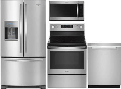 Whirlpool 4 Piece Stainless Kitchen Package