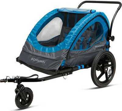 Schwinn Convoy Double Bike Trailer & Stroller