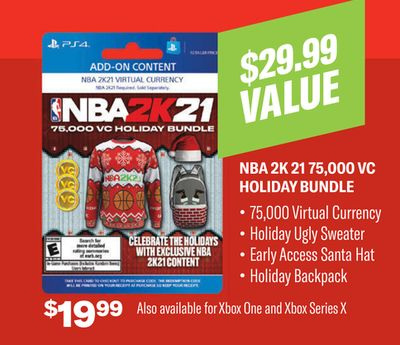 NBA 2K 21 75,00 VC HOLIDAY BUNDLE