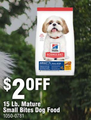 15 Lb. Mature Small Bites Dog Food