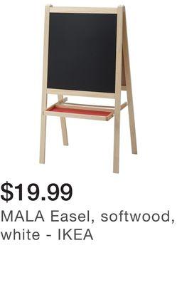 MALA Easel, softwood, white - IKEA