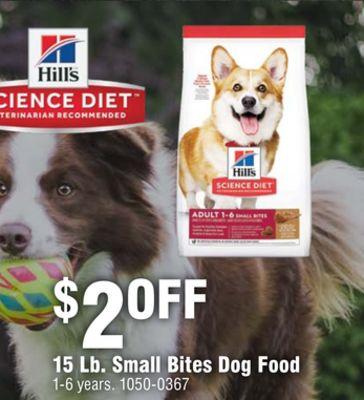 15 Lb. Small Bites Dog Food