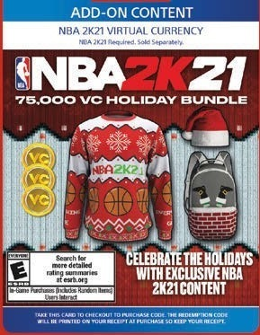 NBA 2K 21 75,000 VC HOLIDAY BUNDLE