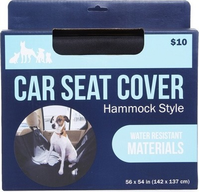 hammock-style car back seat cover for pets, water-resistant 6ft